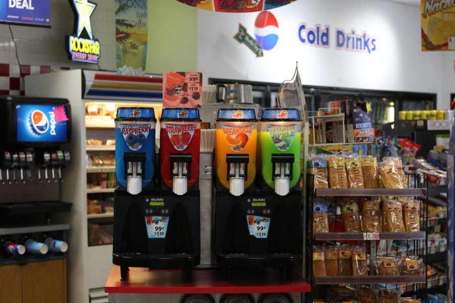 Convenience Store - Gas Station - Slushee Drinks